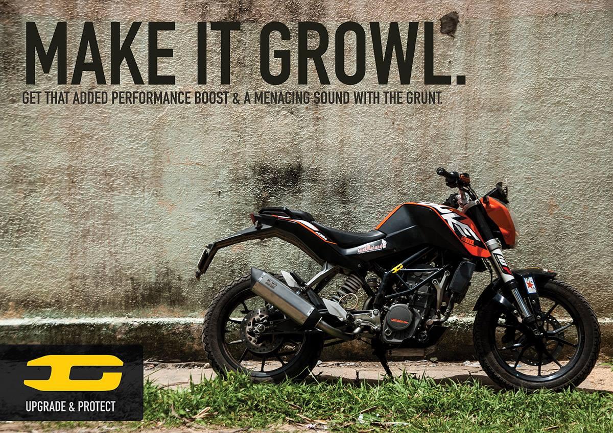 2013-2016 KTM 200 Duke GRUNT Exhaust System (VERSION-3)