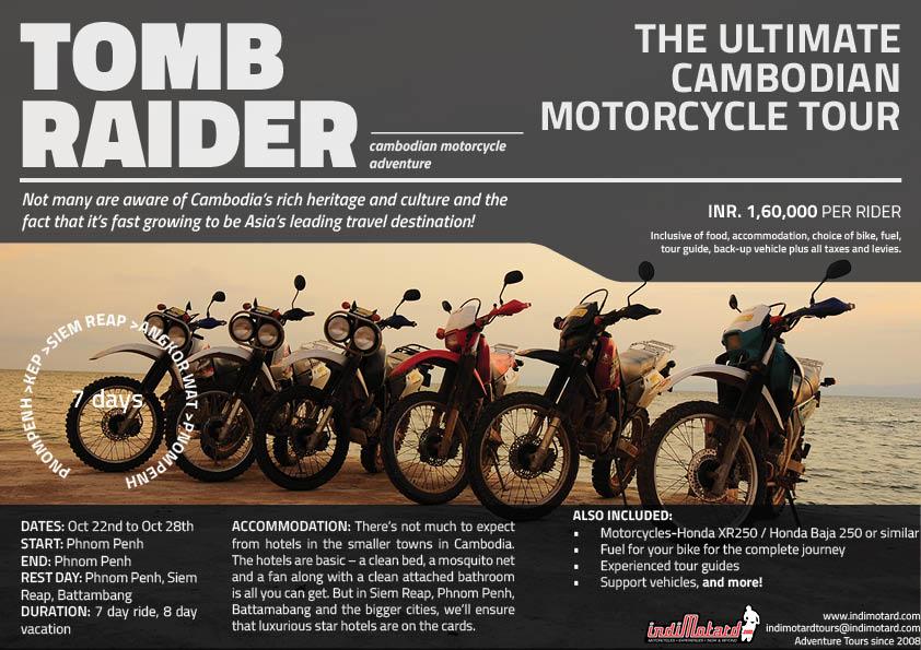 Tomb Raider : Cambodia Motorcycle Tour 2017