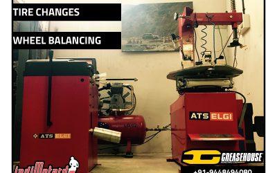 Wheel Balancing>>Now available at indimotard's Greasehouse garage